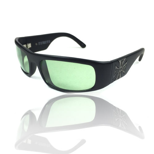 """WCC ORIGINAL CROSS"" green lenses Sonnebrille von West Coast Choppers"