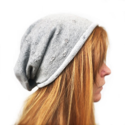 """FRENCH TERRY"" LONG BEANIE Heather Grey Vintage"