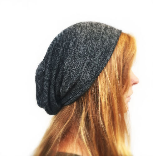 Long Beanie dunkelgrau xtra-long