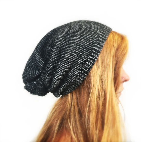 Long Beanie dunkelgrau xtra-long thick