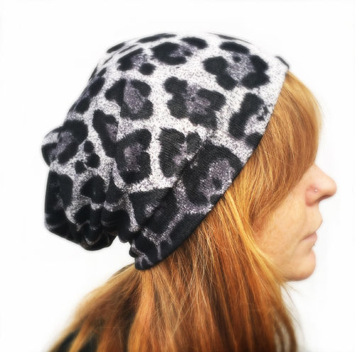 Long Beanie Snow Leopard