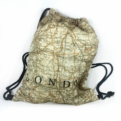 "GYMBAG ALLOVER ""LONDON MAP"""