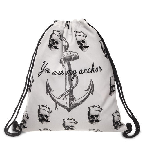 "GYMBAG ALLOVER ""YOU ARE MY ANCHOR"""
