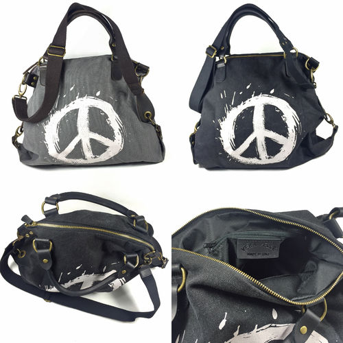 """PEACE"" CANVAS BAG"