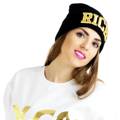 Rich Beanie gold/black