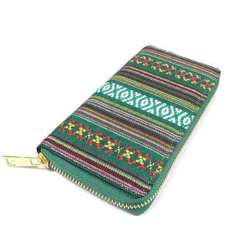 "Zip Purse ""Peru"" grün"