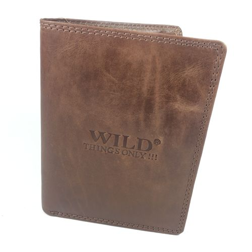 "WILD THINGS ""HIGHFOLDER"" Büffelleder braun"