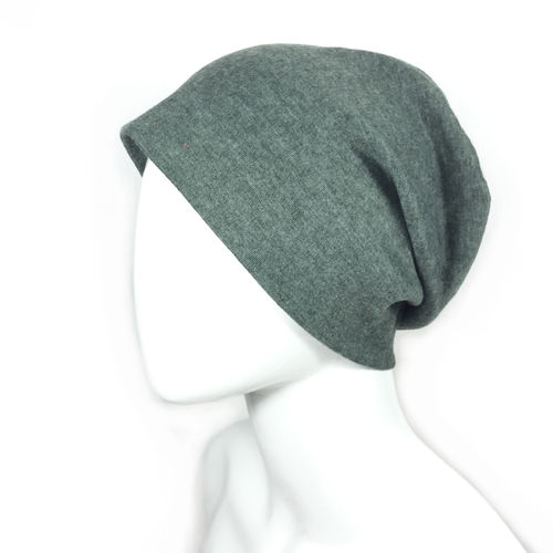 "Long Beanie olive ""BRUSHED COTTON"""