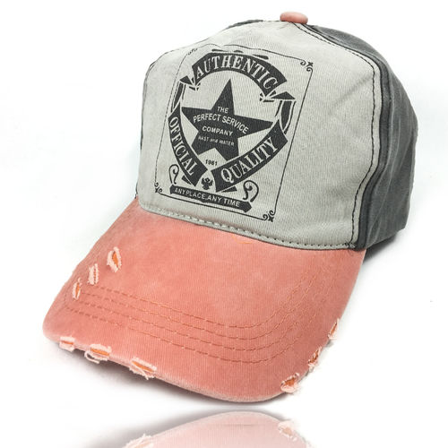 "Distressed Strapback Cap ""Star"""