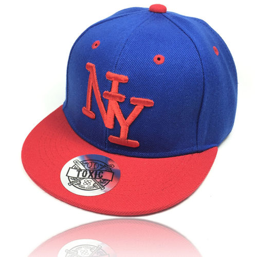"Kinder Snapback Cap ""NY"" royal/orange"