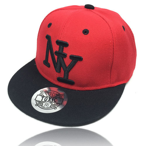 "Kinder Snapback Cap ""NY"" red/black"