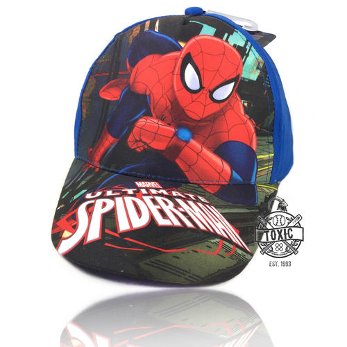 Kinder Velcro Cap Spiderman blue