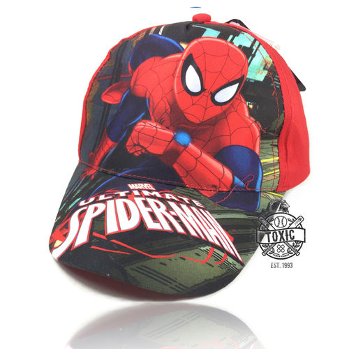 Kinder Velcro Cap Spiderman red
