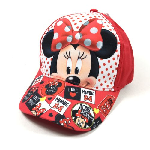 Kinder Velcro Cap Minnie Mouse