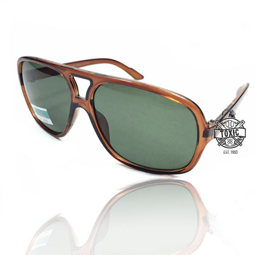 Sonnenbrille Officer Style Brown