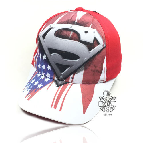 "Kinder Snapback Cap ""Superman"" white"