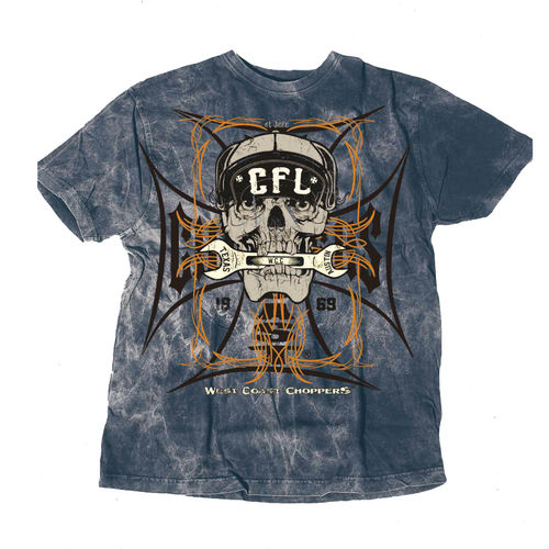 """SKULL SPANNERT-Shirt von West Coast Choppers"