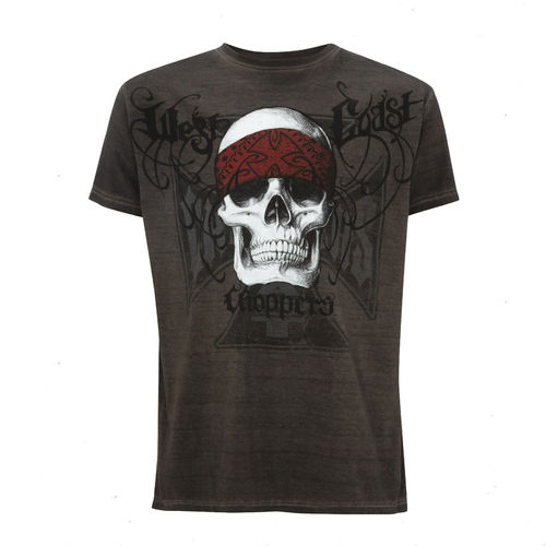 """BANDANA SKULL"" T-Shirt von West Coast Choppers"