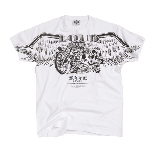 """LOUD PIPE"" T-Shirt West Coast Choppers white"