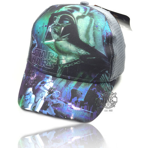 "Kinder Snapback Cap ""STAR WARS"" mesh grey"