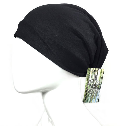 "Basic Beanie black ""BRUSHED COTTON"""
