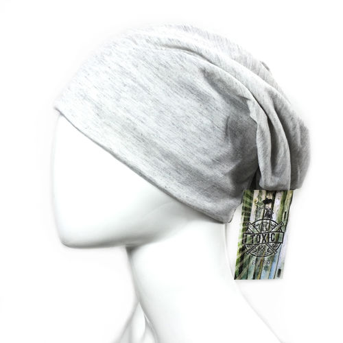 Basic Beanie melange light grey