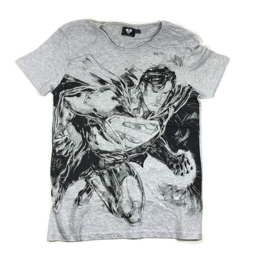 "SUPERMAN T-Shirt ""DRAWING"" grey"