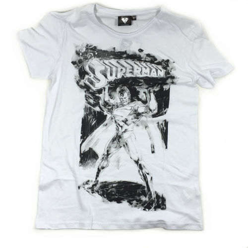"SUPERMAN T-Shirt ""DRAWING"" white"