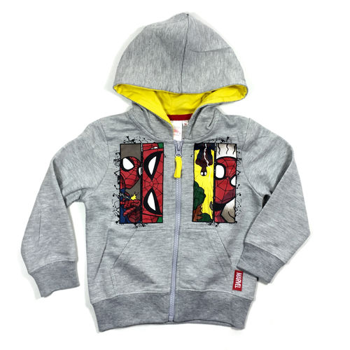 "Kinderziphoody ""SPIDERMAN"" grey"