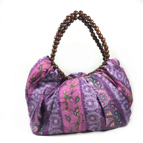 "Handtasche ""WOOD BAG"" violette"
