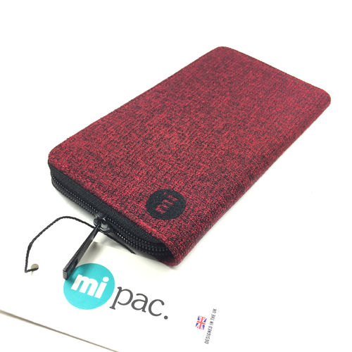 "ZIP PURSE ""CREPE RED"" mi-pac"