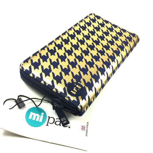"ZIP PURSE ""HOUNDSTOOTH NAVY"" mi-pac"