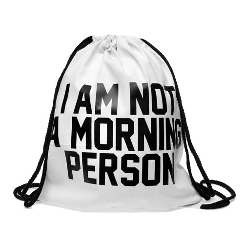 "Turnbeutel ""MORNING PERSON"""