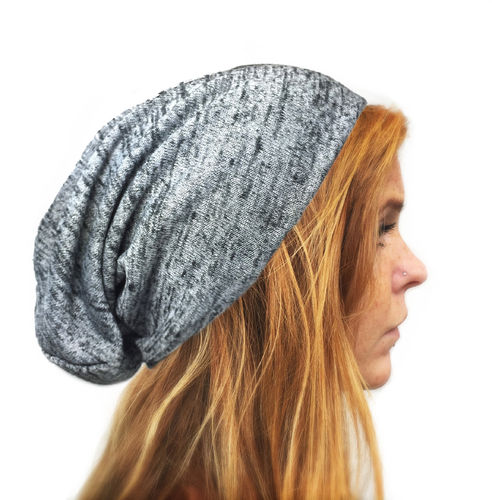 Long Beanie Heather Grey Melange