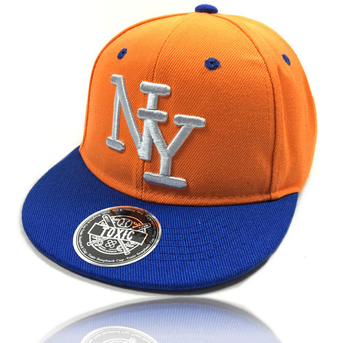 SALE !!! Kinder Snapback Cap NY orange/royal