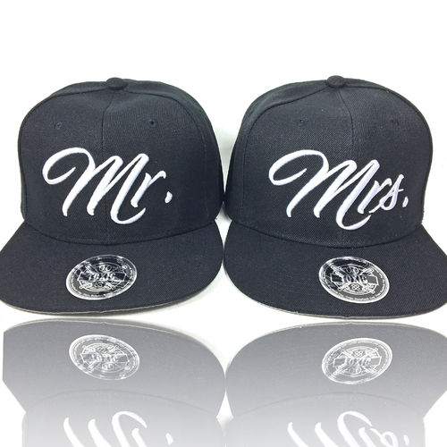 Mr. & Mrs Partner Caps Black