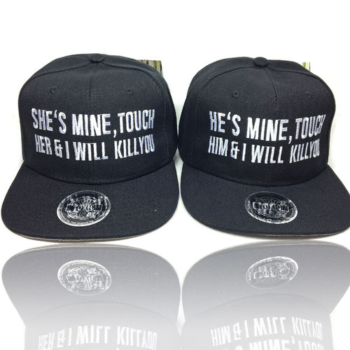 He is mine / She is mine Snapback Baseball Caps