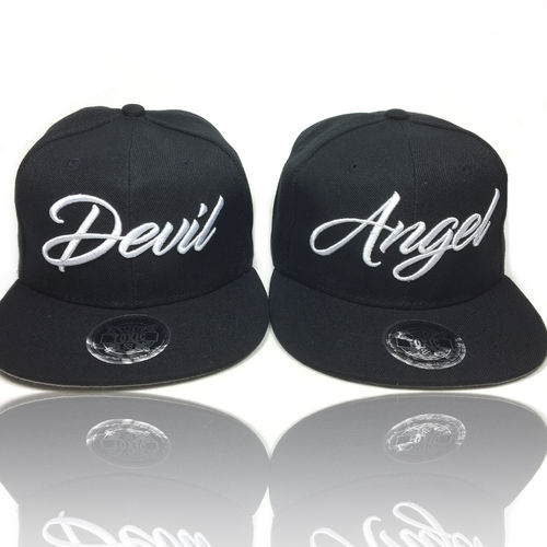 Devil & Angel Snapback Cap Set