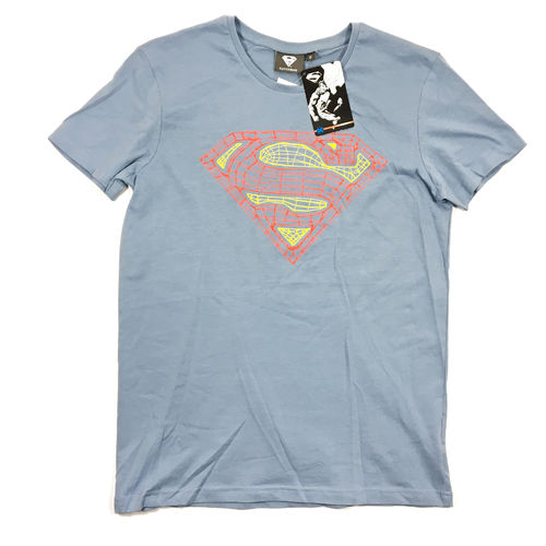 Superman T-Shirt Logo Line skyblue