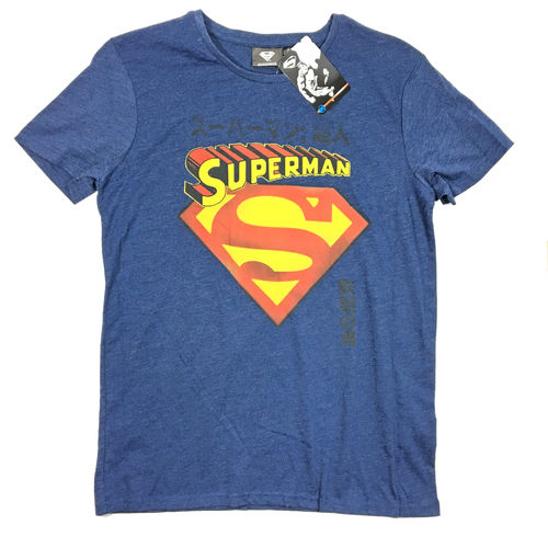 Superman T-Shirt washed darknavy