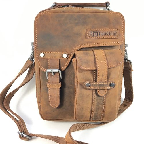 Messenger Bag small Leder brown
