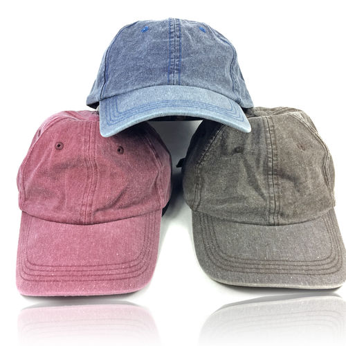 CURVED VISOR CAP WASHED CANVAS