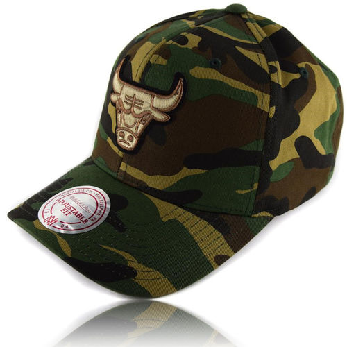 CURVED Camo Snapback Cap Chicago Bulls