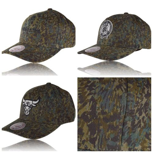 CURVED Abstract Camo Snapback Caps