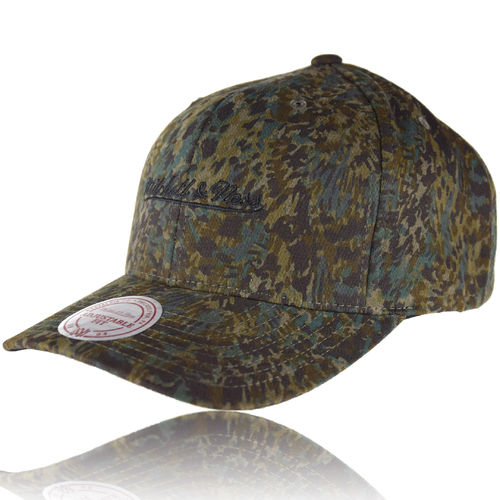 CURVED Abstract Camo Snapback Cap M&N Logo
