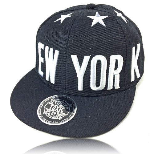 "Kinder New York Cap ""Stars"" schwarz"