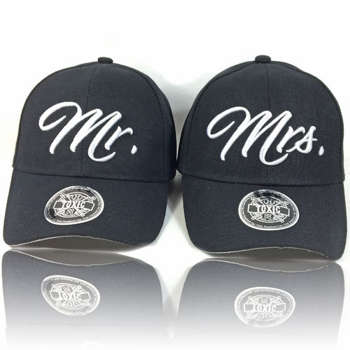 Mr. & Mrs Partner Caps CURVED