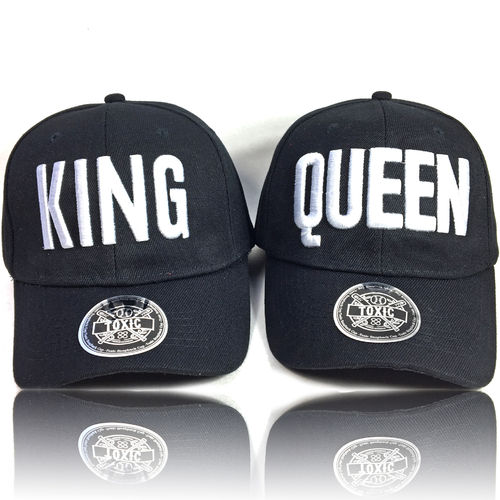 King & Queen Partner Caps CURVED