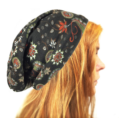 Long Beanie Paisley red