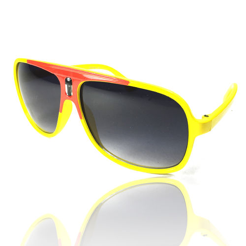 Sonnenbrille Officer Style Yellow